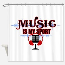 Music is my sport Shower Curtain