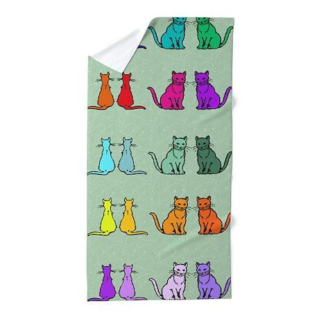 Rainbow Of Cats Beach Towel