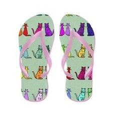 Rainbow Of Cats Flip Flops