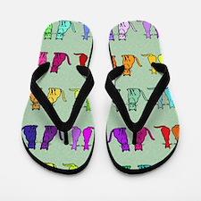 Rainbow Of Cats Flip Flops