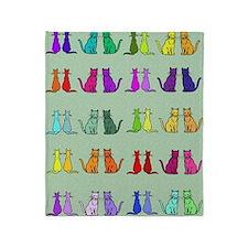 Rainbow Of Cats Throw Blanket