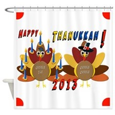Happy Thanukkah Shower Curtain