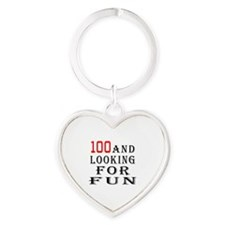 100 and looking for fun Heart Keychain