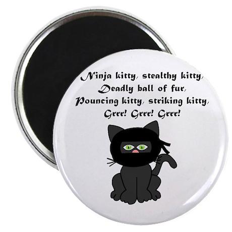 """Ninja Kitty 2.25"""" Magnet (10 pack)"""