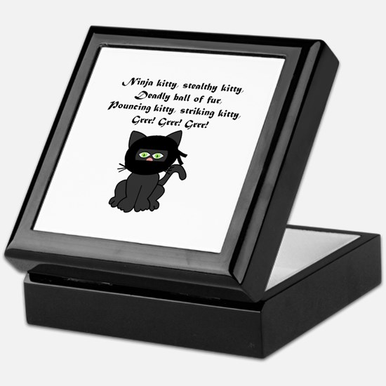 Ninja Kitty Keepsake Box