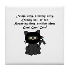 Ninja Kitty Tile Coaster