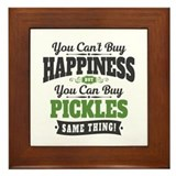 Happiness pickle Framed Tiles