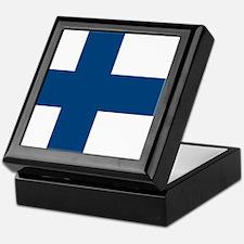 Finnish Flag Keepsake Box