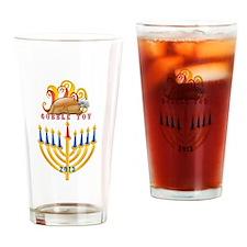 Gobble Tov Thanksgiving  Hanukkah T Drinking Glass