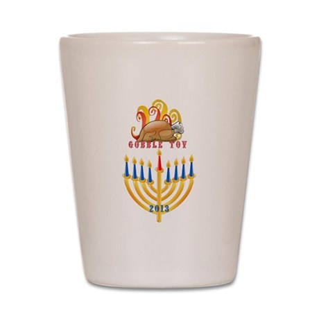Gobble Tov Thanksgiving Hanukkah Turke Shot Glass