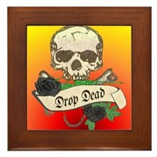 DROP DEAD Anti-Valentine Framed Tile