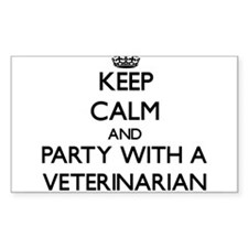 Keep Calm and Party With a Veterinarian Decal