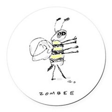 Zombee Round Car Magnet