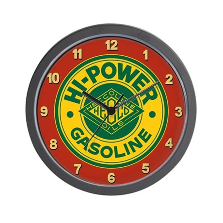 Hi-Power Gasoline Wall Clock