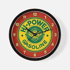 Hi-Power Gasoline Wall Clock