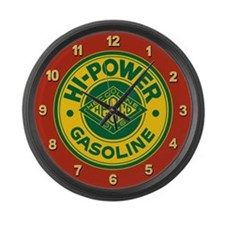 Hi-Power Gasoline Large Wall Clock