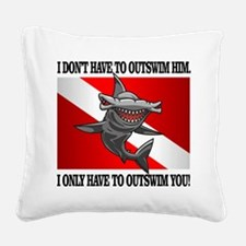 Dive Flag (Outswim) Square Canvas Pillow