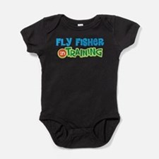 Fly Fisher in Training Baby Bodysuit
