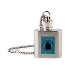 HISTOLOGIST CAT LOVER 2 Flask Necklace