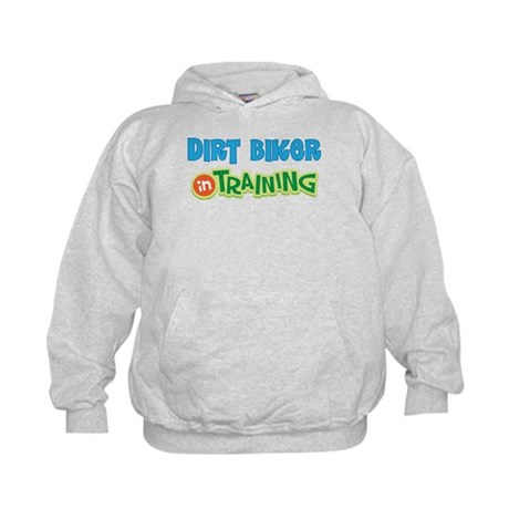 Dirt Biker in Training Kids Hoodie