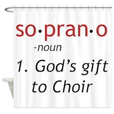 Soprano Definition Shower Curtain