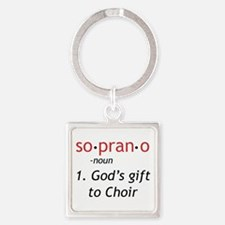 Soprano Definition Square Keychain