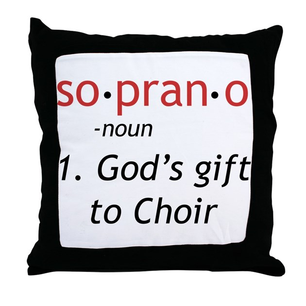 Soprano Definition Throw Pillow by musicianstuff