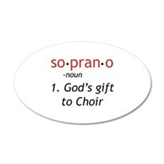 Soprano Definition Wall Decal