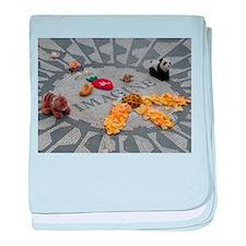 Imagine Strawberry Fields NYC baby blanket