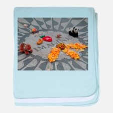 Imagine Strawberry Fields NYC baby blanket