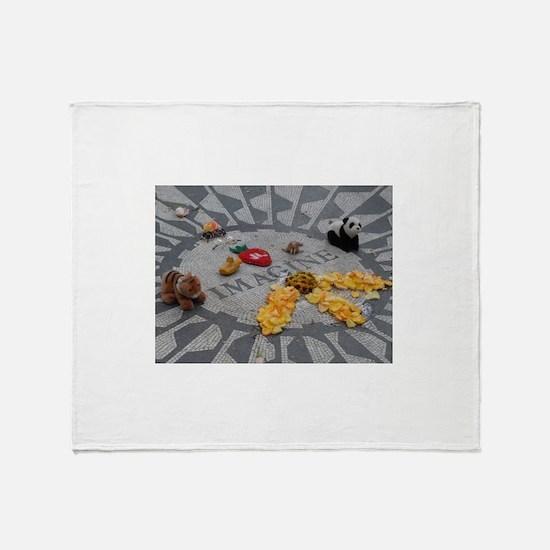 Imagine Strawberry Fields NYC Throw Blanket