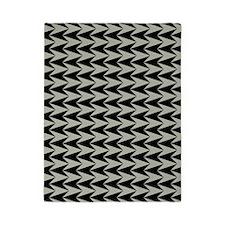 Black and Grey Arrowhead Pattern Twin Duvet