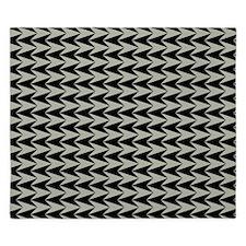 Black and Grey Arrowhead Pattern King Duvet