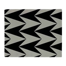 Black and Grey Arrowhead Pattern Throw Blanket