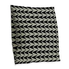 Black and Grey Arrowhead Pattern Burlap Throw Pill