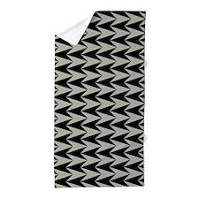 Black and Grey Arrowhead Pattern Beach Towel