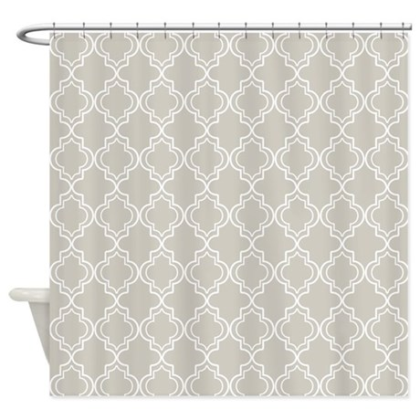 natural moroccan quatrefoil shower curtain by hhtrendyhome