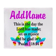 PSALM 118:24 Throw Blanket