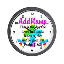 PSALM 118:24 Wall Clock