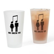 Music Connecting People Drinking Glass