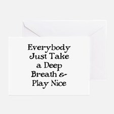 TAKE A DEEP BREATH Greeting Cards (Pk of 10)
