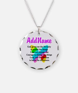 SERENITY PRAYER Necklace Circle Charm