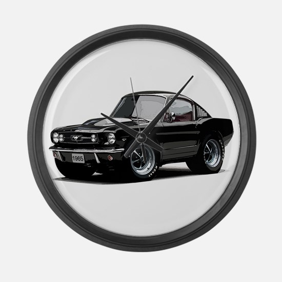 abyAmericanMuscleCar_65_mstg_Xmas_Black Large Wall