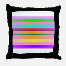 Warm Stripes Throw Pillow