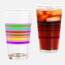 Warm Stripes Drinking Glass