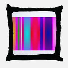 Stripes Art Red Throw Pillow