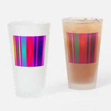 Stripes Art Red Drinking Glass