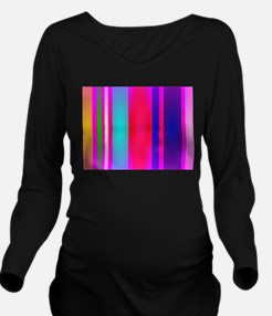 Stripes Art Red Long Sleeve Maternity T-Shirt