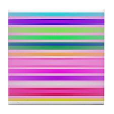 Favorite Stripes Tile Coaster