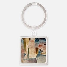 View Towards the Port of Hammamet  Square Keychain